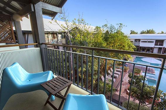 Pool View Twin Balcony